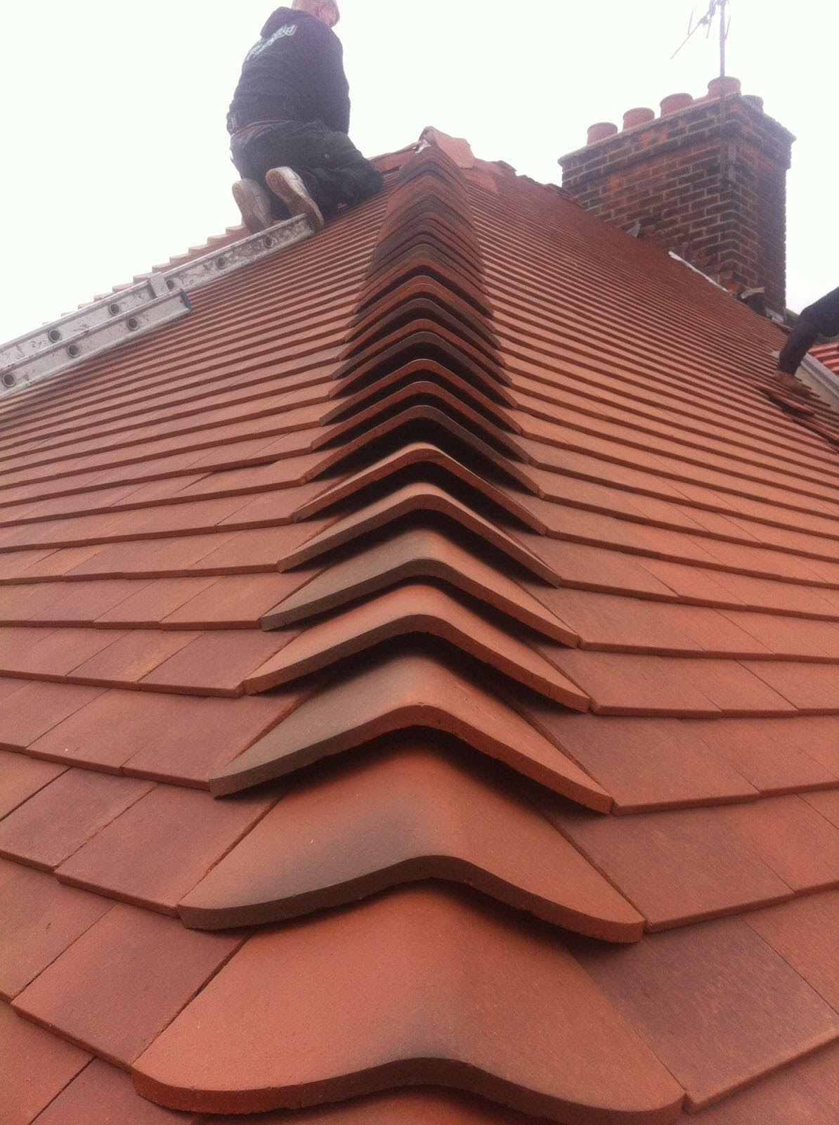 Clay Tile roof installation in Cambridge