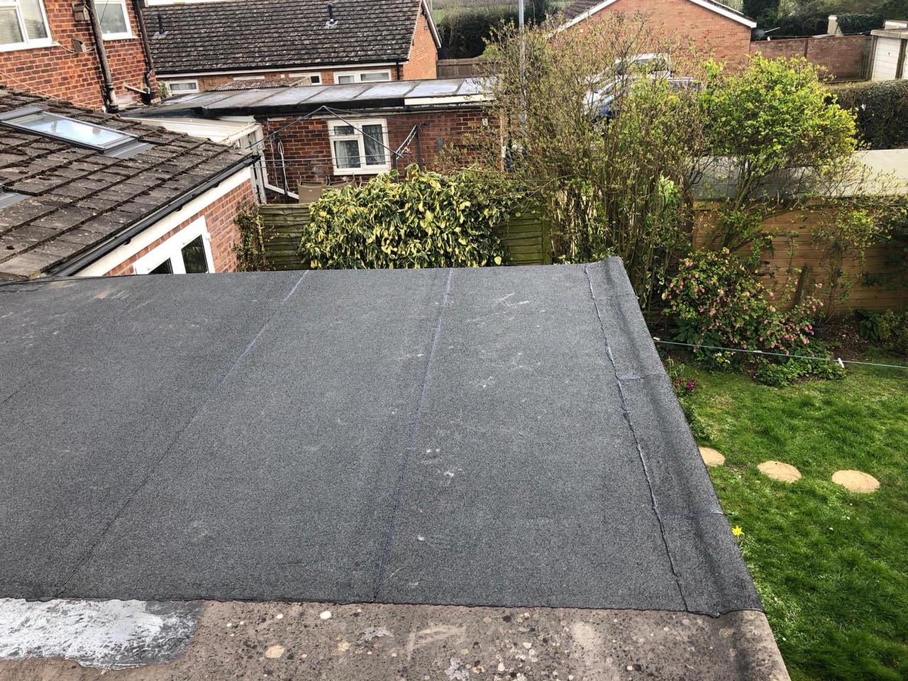 Cambridge 3 ply felt Flat Roof & Fascia 1